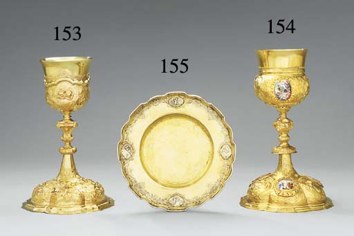 A GERMAN SILVER-GILT CHALICE A
