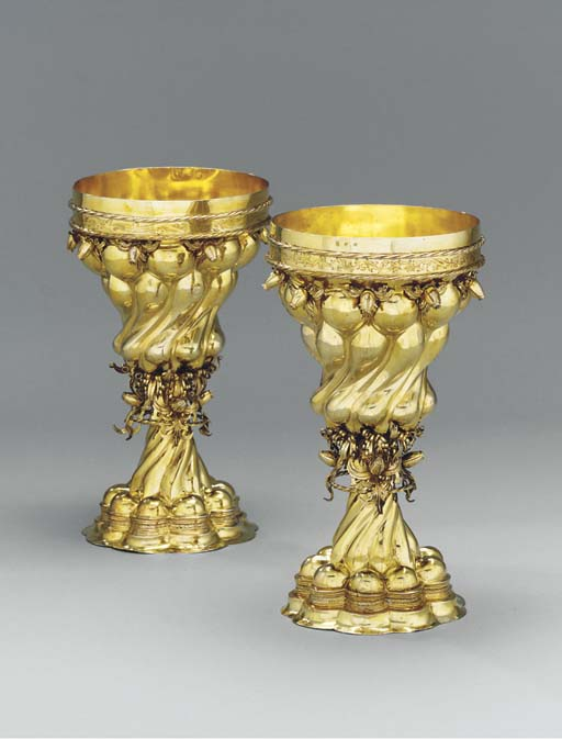 A GERMAN SILVER-GILT DOUBLE-CU