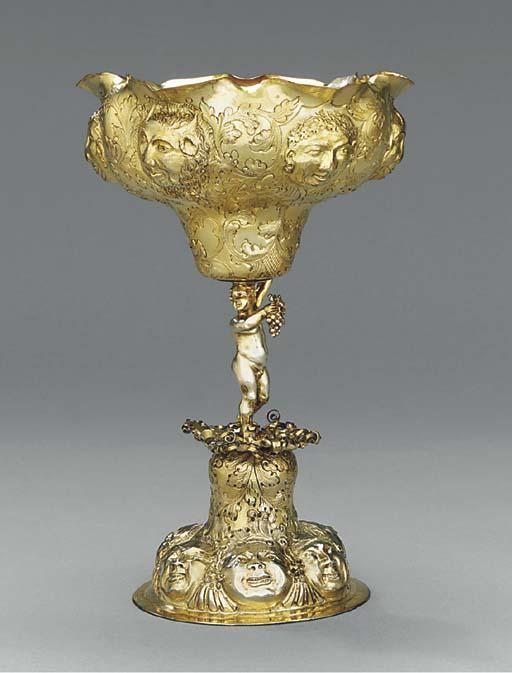 A GERMAN SILVER-GILT CUP