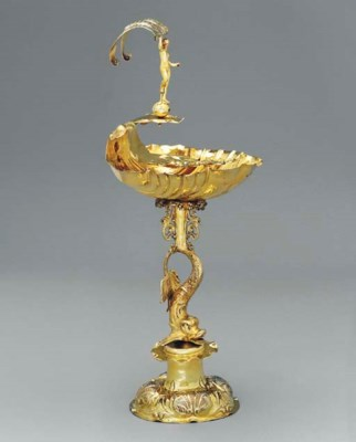 A GERMAN SILVER-GILT CUP