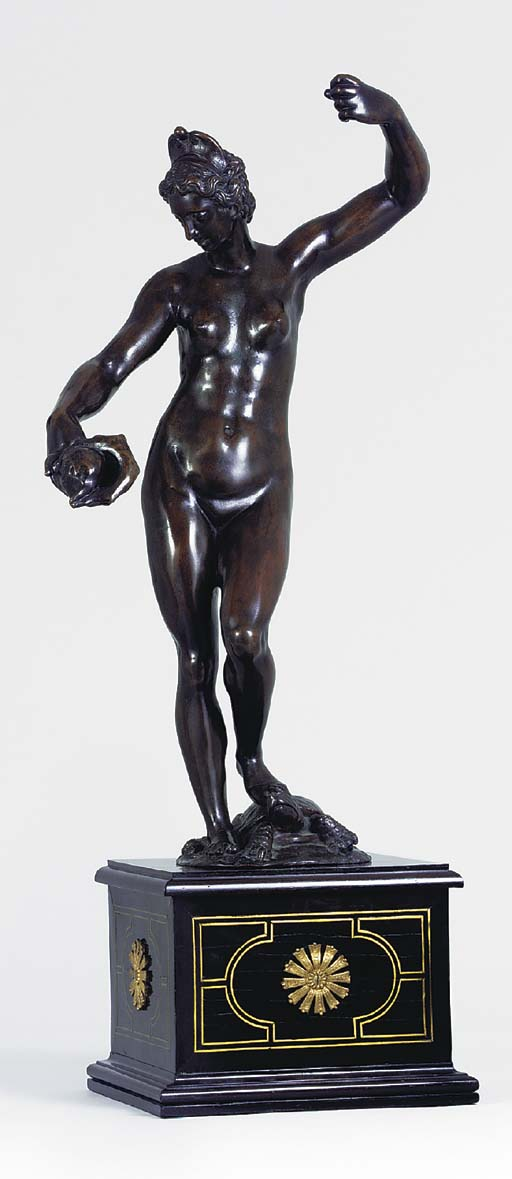 A BRONZE FIGURE OF VENUS