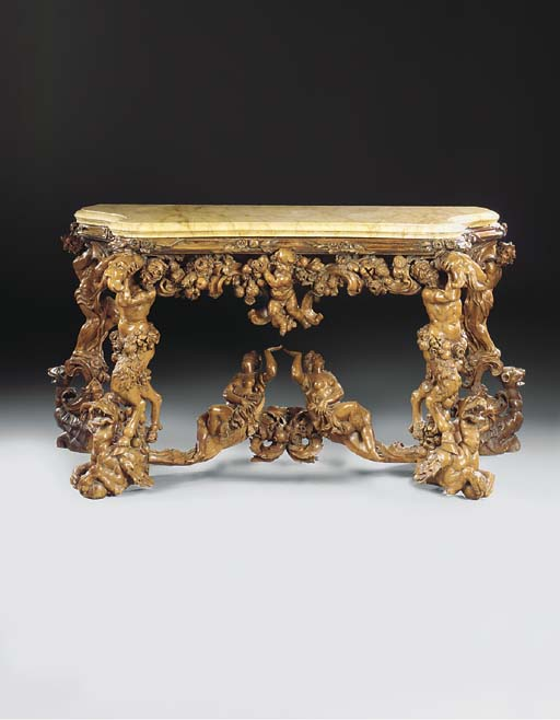 A VENETIAN CARVED BOXWOOD AND