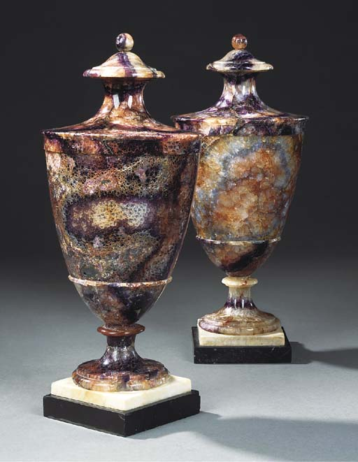 A PAIR OF BLUEJOHN VASES