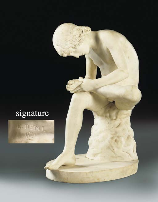 A CARVED MARBLE MODEL OF THE S