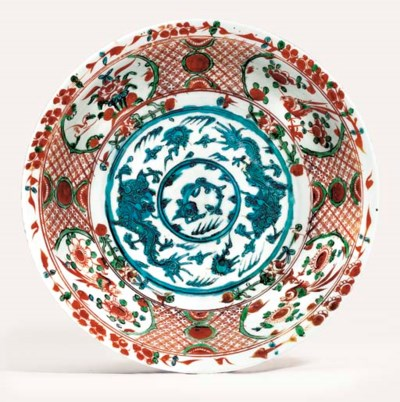 A LATE MING SWATOW POLYCHROME