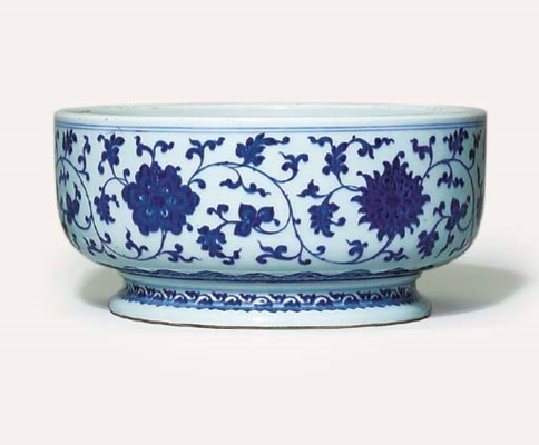 AN UNUSUAL MING-STYLE BLUE AND