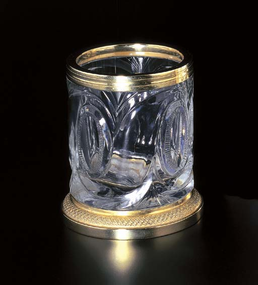 A CRYSTAL CIGARETTE HOLDER, BY