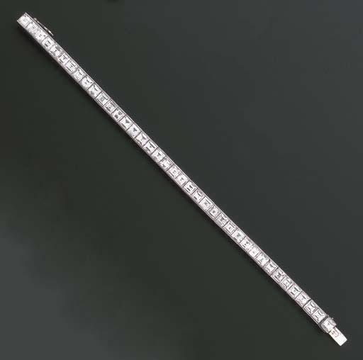 A DIAMOND LINE BRACELET, BY CA