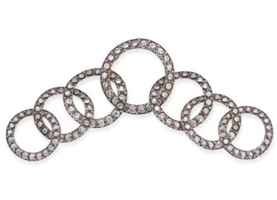 A BELLE EPOQUE DIAMOND TIARA,