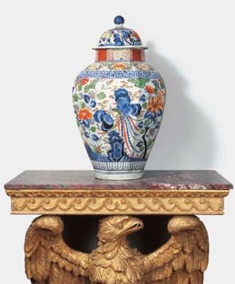 An Imari vase