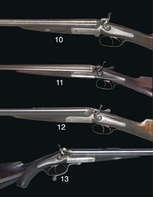 A 12-BORE HAMMER GUN BY BOSS,