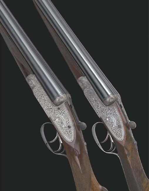 A PAIR OF 12-BORE 'ROYAL' SIDE