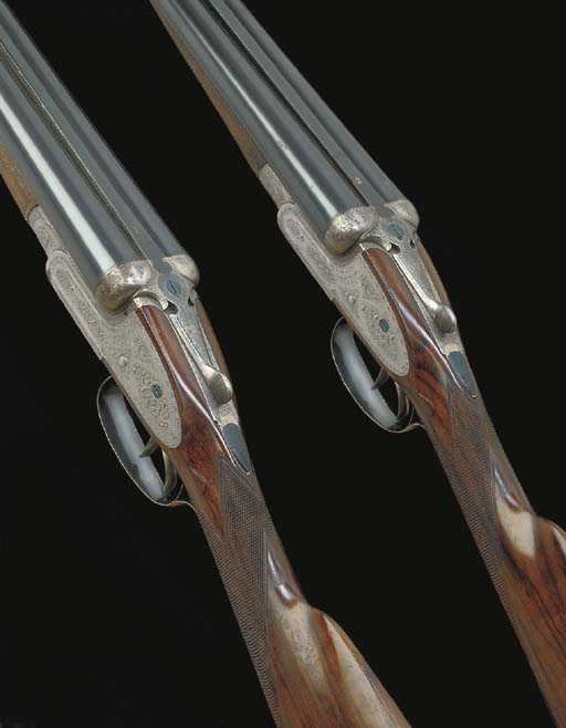 A PAIR OF 12-BORE SIDELOCK EJE