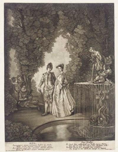 After Jean-Antoine Watteau (16