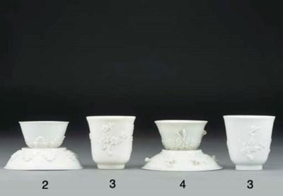 A Böttger white teabowl and sa