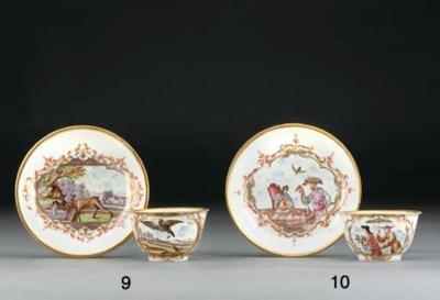 A Böttger Chinoiserie teabowl