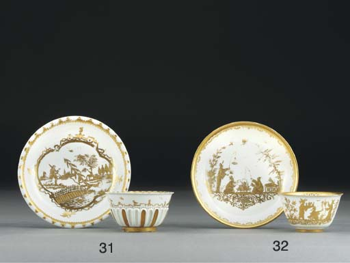 A Böttger teabowl and saucer