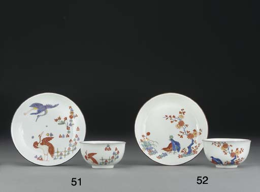 A Meissen kakiemon teabowl and