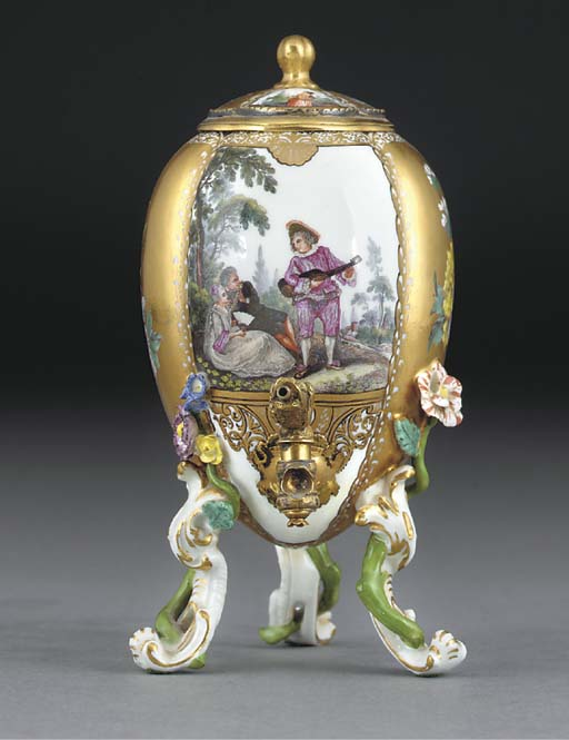 A Meissen gilt-metal-mounted e