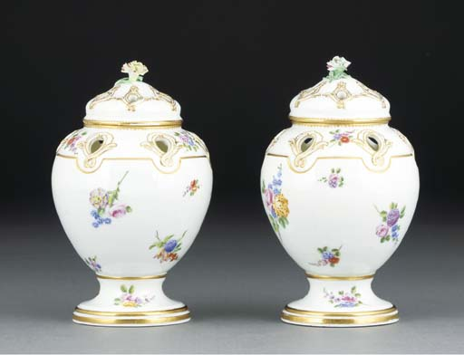 A pair of Sevres pot-pourri va