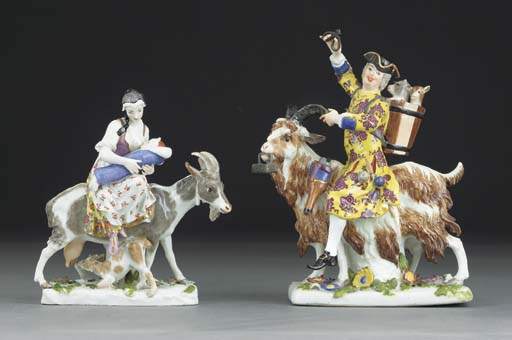 Two Meissen groups of Count Br