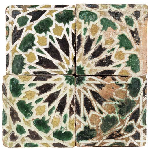 A Spanish Cuerda Seca tile panel