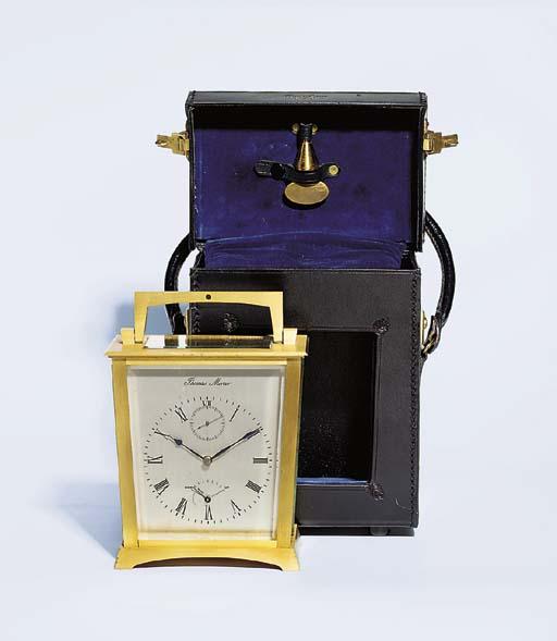 An English gilt-brass eight-da