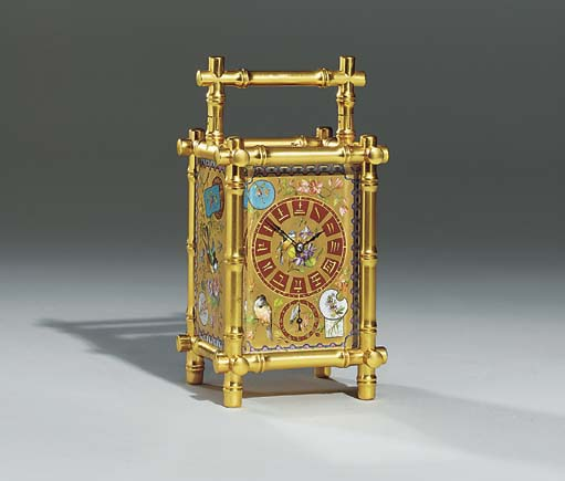 A French gilt-brass and porcel