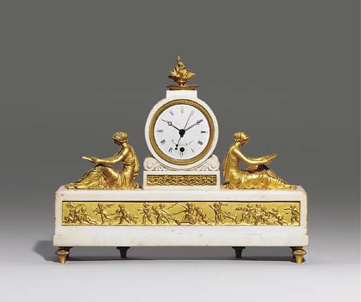 A Regency white marble and orm