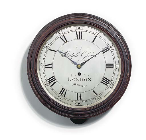 A George III mahogany dial clock