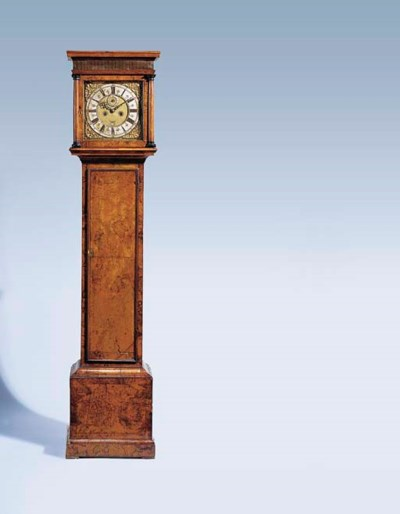 A Queen Anne walnut longcase c