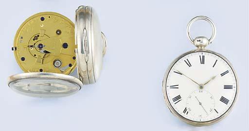 A Regency silver pocket chrono