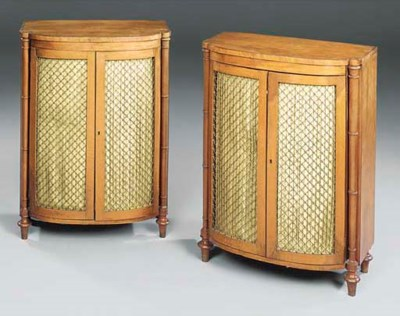 A PAIR OF REGENCY SATINWOOD SI