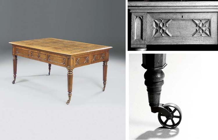 A GEORGE IV OAK WRITING-TABLE