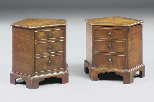 A NEAR PAIR OF GEORGE III MAHO