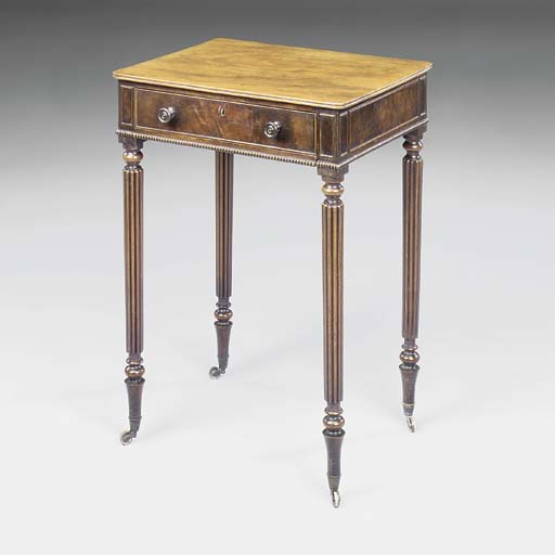 A REGENCY MAHOGANY WORK-TABLE