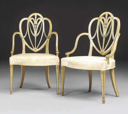 A PAIR OF GEORGE III CREAM, GR