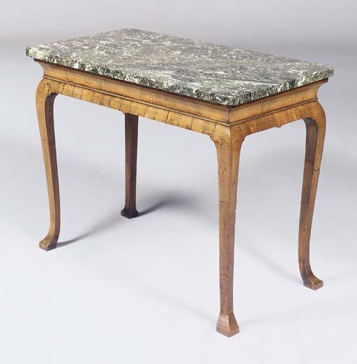 A QUEEN ANNE WALNUT SIDE TABLE