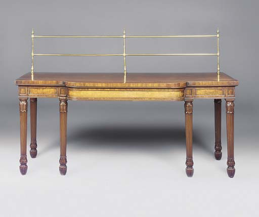 A REGENCY MAHOGANY SERVING-TAB