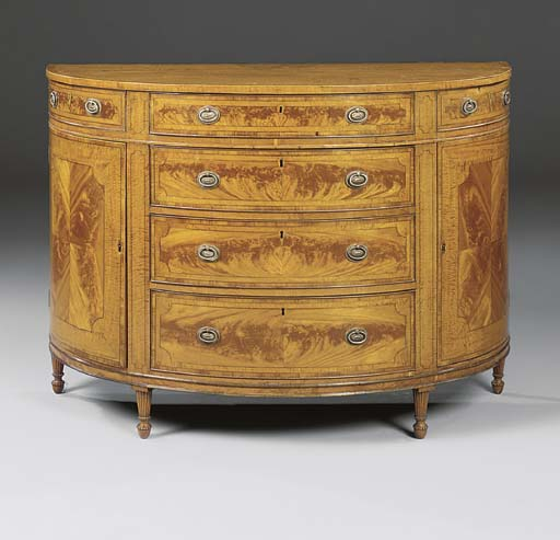 A LATE VICTORIAN SATINWOOD DEM