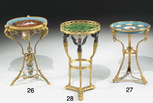 An ormolu and Sevres-style tur