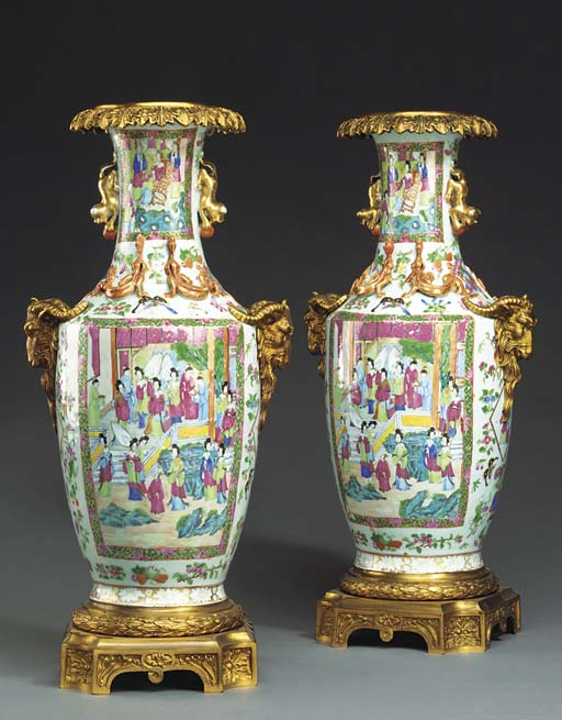 A pair of ormolu-mounted Canto