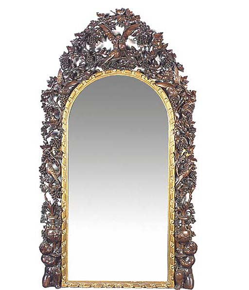 A Florentine giltwood and carv