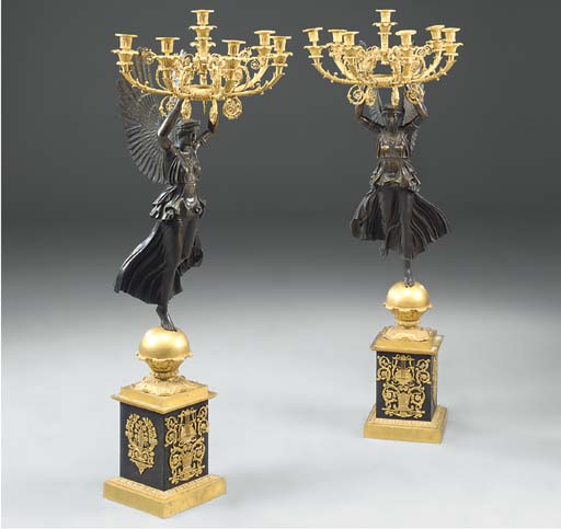 A pair of large Empire style o