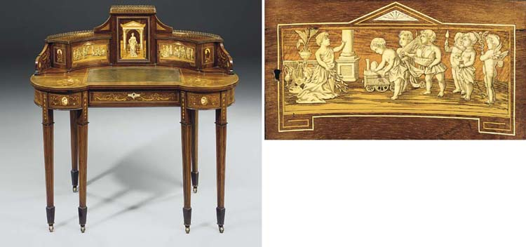 An English ormolu-mounted etch