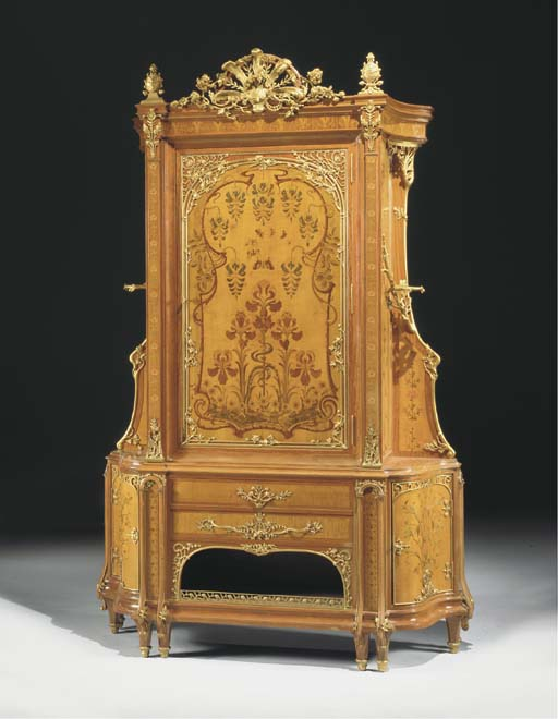 A French Art Nouveau ormolu-mo