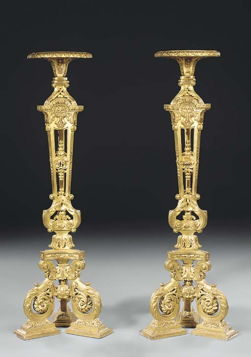 A pair of Regence style giltwo