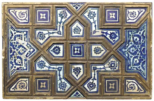 A TIMURID BLUE, BLACK AND WHIT