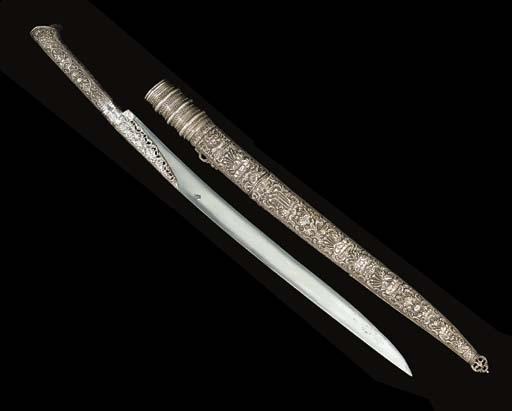 A SMALL OTTOMAN SWORD (YATAGHA