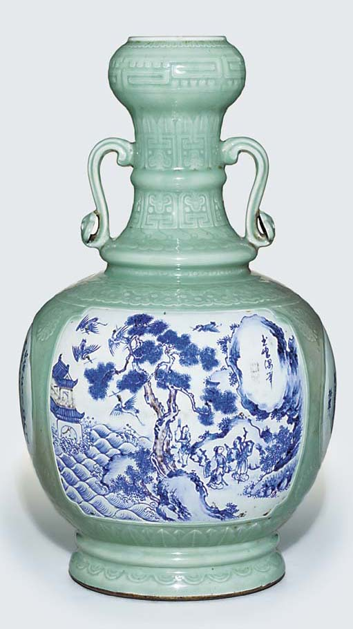 A LARGE UNDERGLAZE-BLUE, COPPE